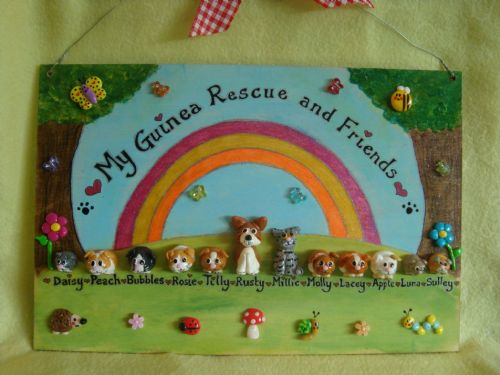 A4 LARGE FAMILY SIGN PLAQUE PEOPLE PETS CAT DOG BIRD rabbit horse ANY PHRASING up to 12 characters Garden themed